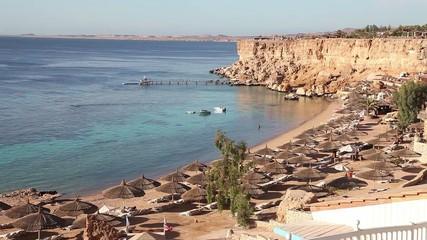 Panoramic view of Sharm El Sheikh Beach, Egypt