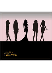 silhouette of the women
