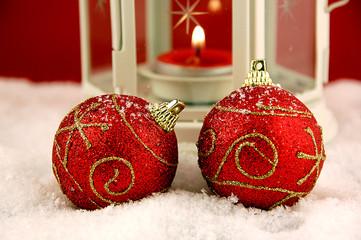 rite Weihnachtskugeln