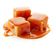caramel candies and caramel sauce - 74624759