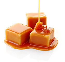 caramel candies and caramel sauce