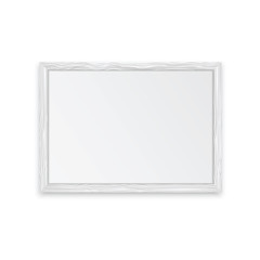 White wooden frame with place for your design