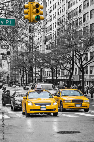 Staande foto New York City New York yellow taxi cabs