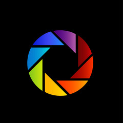 Aperture with spectrum of visible light- color wheel design
