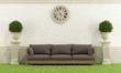 Classic garden with sofa