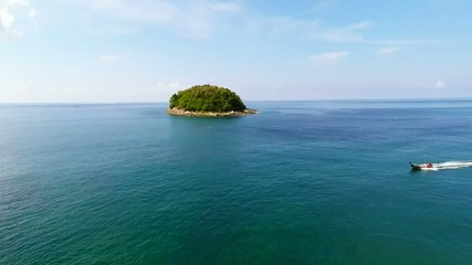 Aerial shot of the island in Thailand.