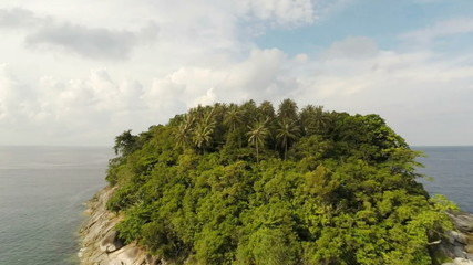 Aerial Panoramic Of A Island. Thailand.