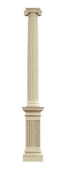 Ionic column on pedestal