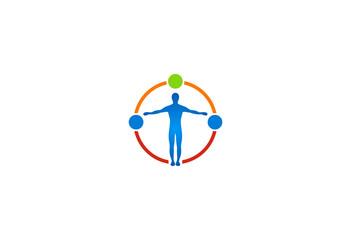 human body health vector logo