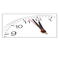 The clock and timestamp with numbers isolated on a white backgro