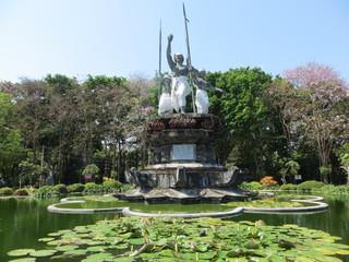Monument in Taman Puputan, Denpasar, Bali
