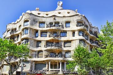 Gaudi's  creation-house Casa Mila.Barcelona, Catalonia, Spain