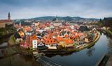 Cesky Krumlov panorama wide - 74627169