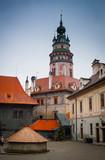 Cesky Krumlov castle tower - 74627199