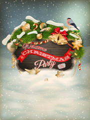 Merry Christmas greeting card. EPS 10