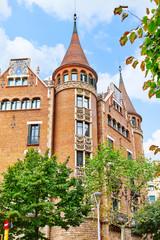 Сasa Serra (Building with spires) Barcelona,Catalunia, Spain.