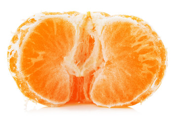 juicy tangerine isolated on the white background