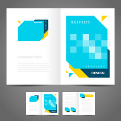 brochure design template vector - booklet geometric abstract