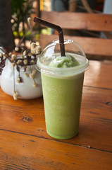 a cup of green tea smoothies