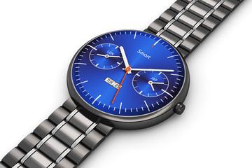 Black luxury smart watch