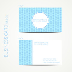 Doodle creative simple  business card template with hand drawn