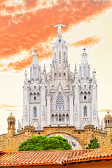 Temple of the Sacred Heart. Barcelona.Spain.