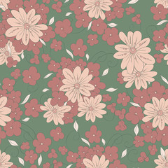 Spring Seamless floral pattern. Bouquets of flowers