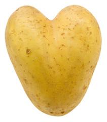 pomme de terre en forme de coeur