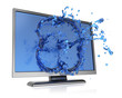 Monitor with water splash