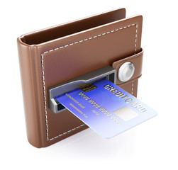 Wallet with credit card