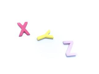 アルファベット・x・y・z