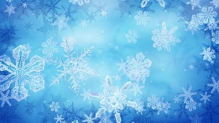 кристаллические  снежинки