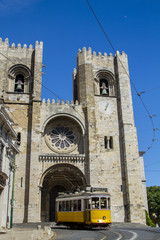 Cathedral of Se, located in Lisbon, Portugal.