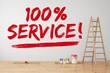 100% Service an Wand