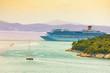 Cruiser liner in the port of Dubrovnik,