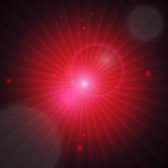 Burst background - red. EPS10, RGB.