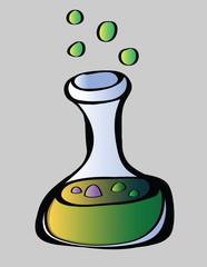 cartoon laboratory glass bottle