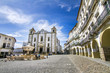 Leinwanddruck Bild - View of the Giraldo square located on Evora, Portugal.