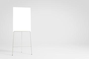 Leeres weißes Flipchart als Hintergrund