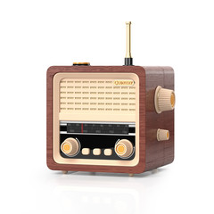 3d illustration: Country Radio on a white background.