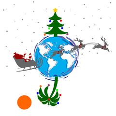 christmas north and south and santa claus