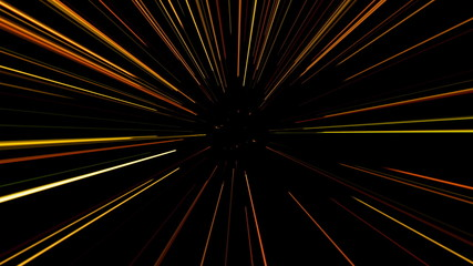 Random rotation of laser beams. Seamless loop.. 4K UHD