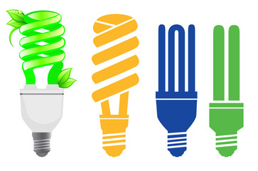 Energy saving lamps set