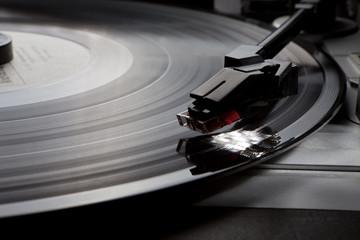 old gramophone Vinyl music record retro player
