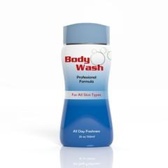 3D Body Wash plastic bottle isolated on white background