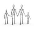 Robot Mannequin Family Holding Hands