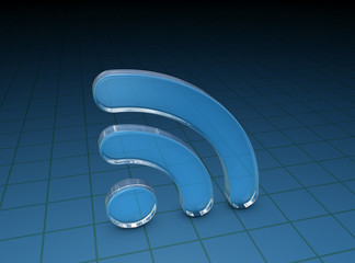 Glossy Blue Grass RSS Symbol