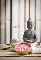 meditation, spa and relaxation concept