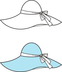 Vector fashion illustration of a hat