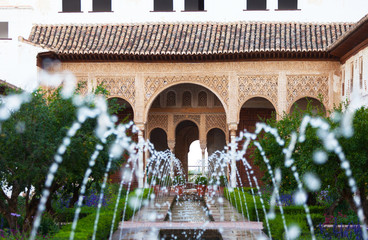 Gardens of the Generalife in Spain, part of the Alhambra
